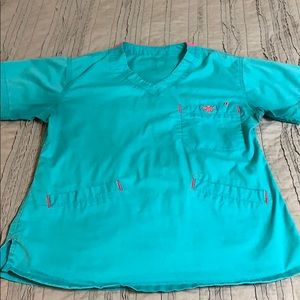 Teal med couture scrubs